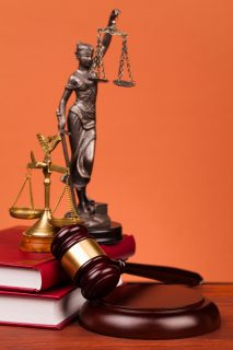 lady justice and court gavel