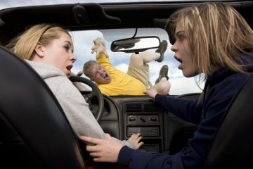 teens hitting a pedestrian while distracted driving