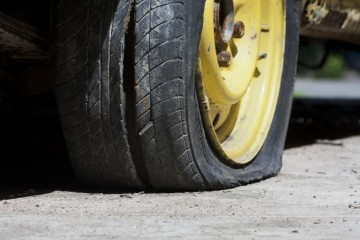 a summer tire blowout
