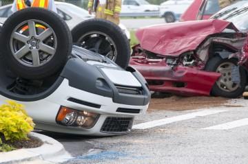 a bad rollover auto accident