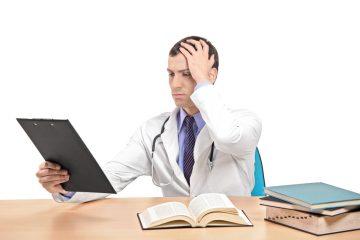 doctor receiving medical malpractice documents
