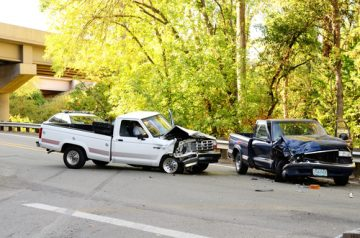 two truck collision accident